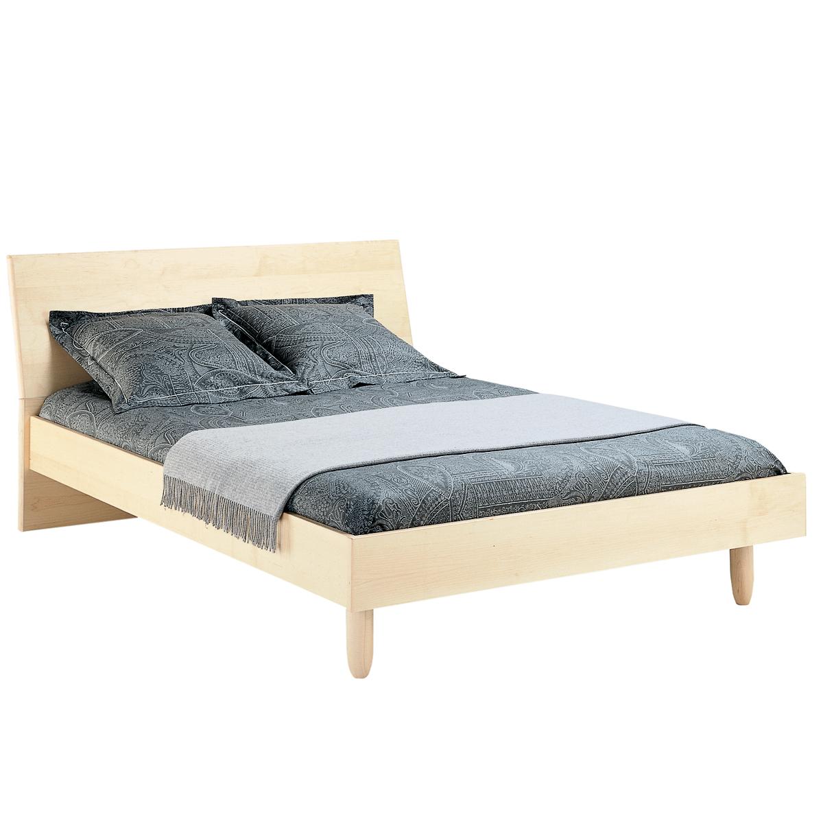 lit contempora avec t te en bois mobican. Black Bedroom Furniture Sets. Home Design Ideas