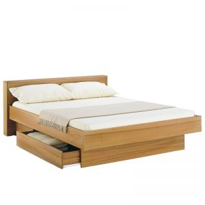 Classica bed with wood headboard