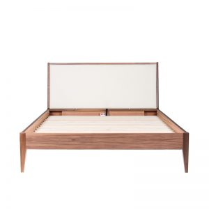 Leila bed with upholstered panel