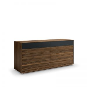 Mimosa double dresser, top drawer with glass front