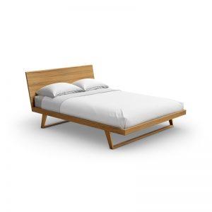 Malta bed with wood headboard