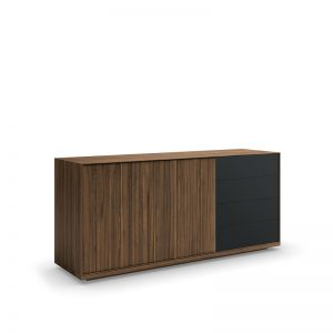Torelli buffet, 2 doors & 4 drawers with glass fronts